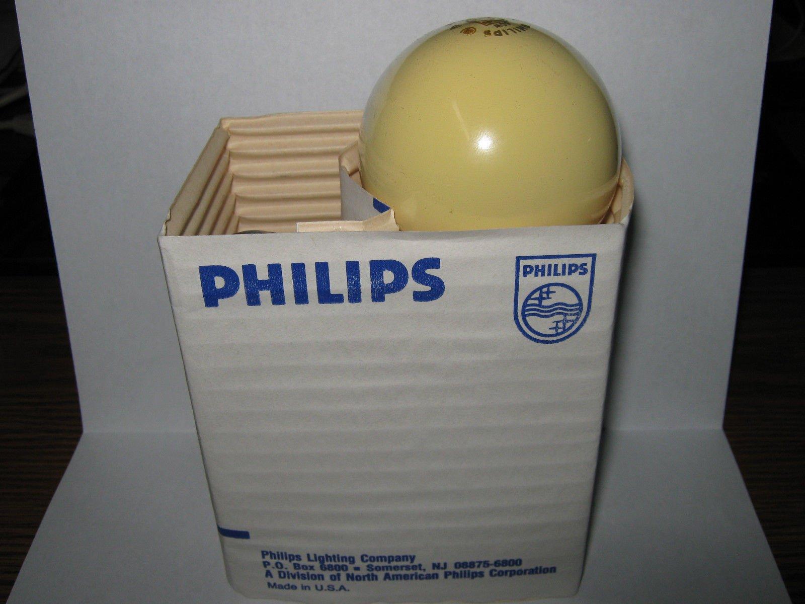 120 box, Philips 60 watt Bug Light, Yellow Incandescent Bulb, 60A/Y, 120V,
