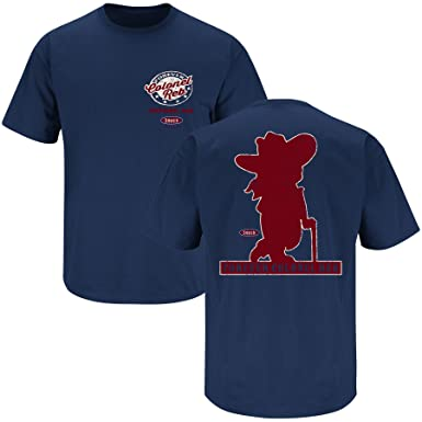 Ole Miss Fans Forever Colonel Reb Navy T Shirt Sm 5x At Amazon
