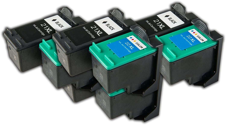 8 cartuchos de tinta compatibles HP 21/22 para impresoras HP ...