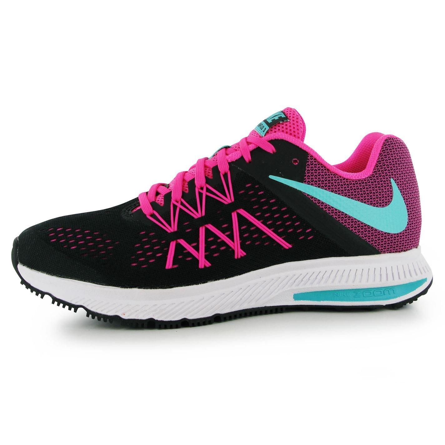 59152a14670c Nike Zoom Winflo 3 Running Shoes Womens Black Green Pink Run Trainers  Sneakers (UK6.5) (EU40.5) (US9)  Amazon.co.uk  Sports   Outdoors
