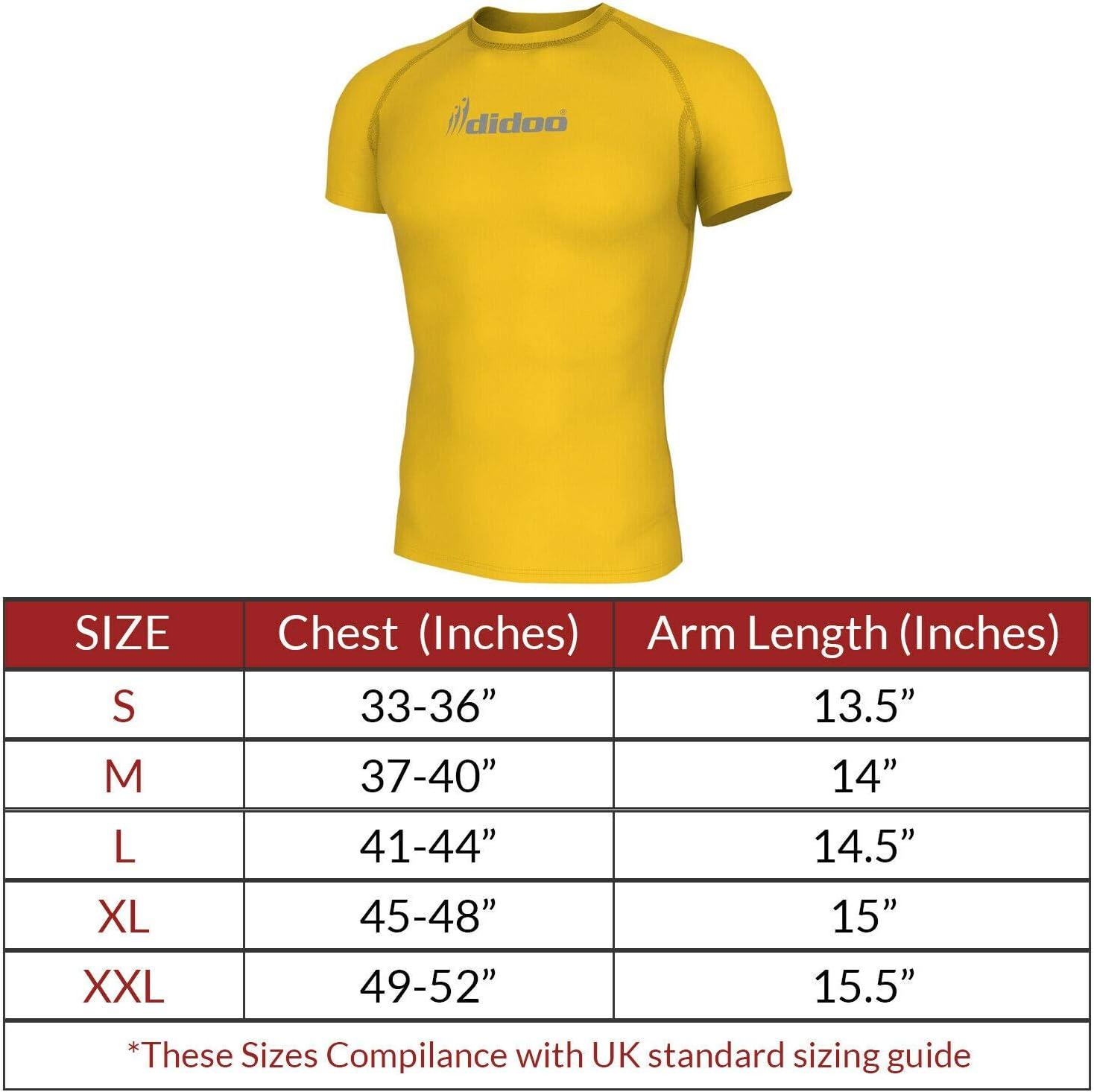 Mens Thermal Strato di Base Compressione Sleeve Completo Camicia