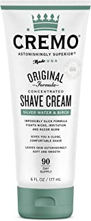 product image for Cremo Barber Grade Silver Water & Birch Shave Cream, Astonishingly Superior Ultra-Slick Shaving Cream Fights Nicks, Cuts and Razor Burn, 6 Oz