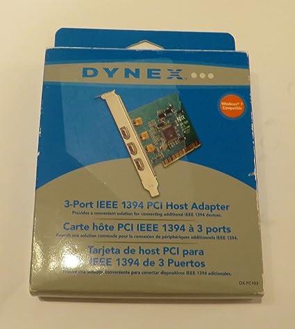 Amazon.com: Dynex - 3-Port FireWire/IEEE 1394 PCI Card ...