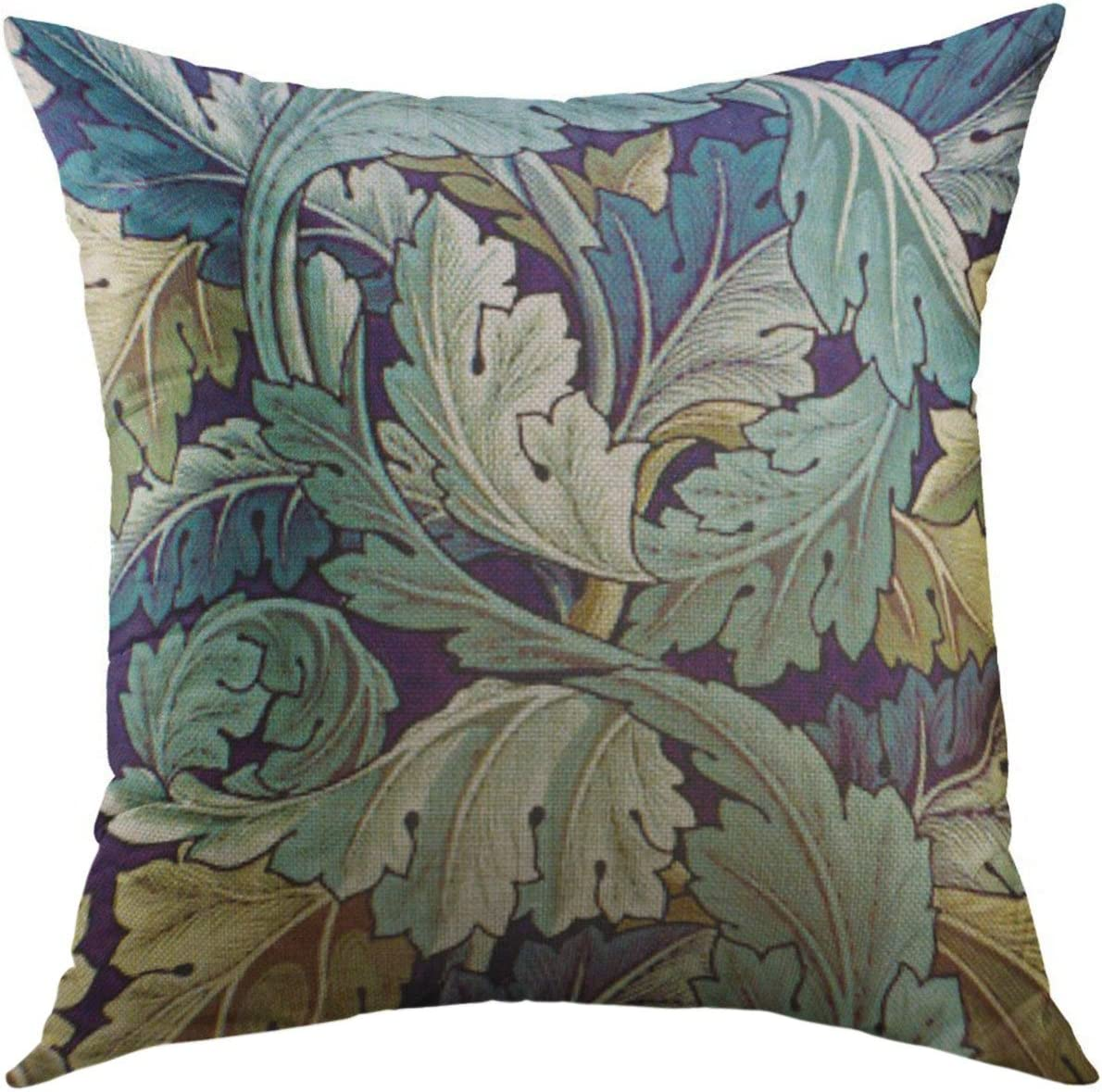 Amazon Com Mugod Pillow Cases Leaf Acanthus Leaves Throw Pillow Cover For Men Women Boys Cushion Cover 20x20 Inch Home Kitchen