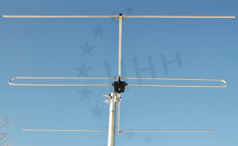3H-FM-3 - 3 elementos Yagi FM/FM antena F-conexión para colocación en horizontal o vertical exterior - o de techo