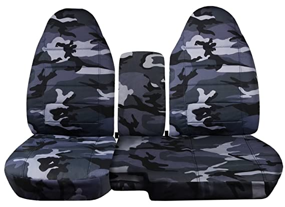 Totally Covers Fits 2004-2012 Ford Ranger//Mazda B-Series Two-Tone Truck Seat Covers 2005 2006 2007 2008 2009 2010 2011 60//40 Split Bench 21 Colors with Center Console//Armrest Cover: Black /& Gray