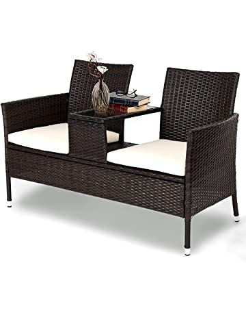 4225f8199a3 Tangkula Outdoor Furniture Set Patio Conversation Set with Removable  Cushions   Table Wicker Modern Sofas for