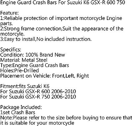 Areyourshop Stunt Cage Crash Bar Motor Rahmenschutz f/ür GSX-R 750 GSX R 600 06-10