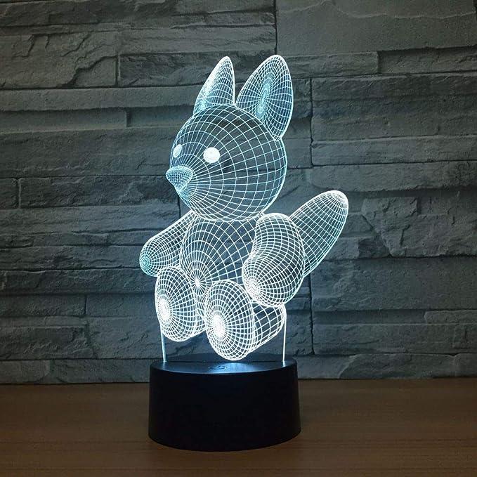 wangZJ Cute Bear Lámpara de ilusión 3d / Regalo de navidad ...