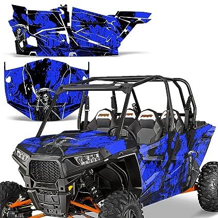 Amazon.com: Polaris RZR1000 XP 4DR 2013-2016 Graphic Kit UTV Decal Sticker Wrap RZR 1000 4 Door REAPER BLUE: Automotive