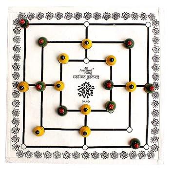 Ancient Living Daadi / Navakankari / Nine Mens Morris Board Game