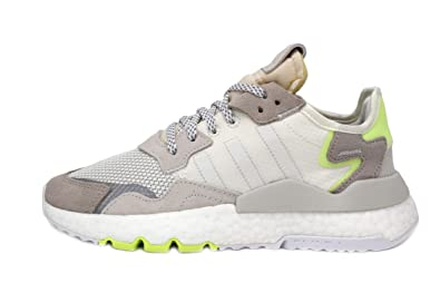 6d33d71603099 Amazon.com | adidas Nite Jogger Womens in White/Hi-Res Yellow ...