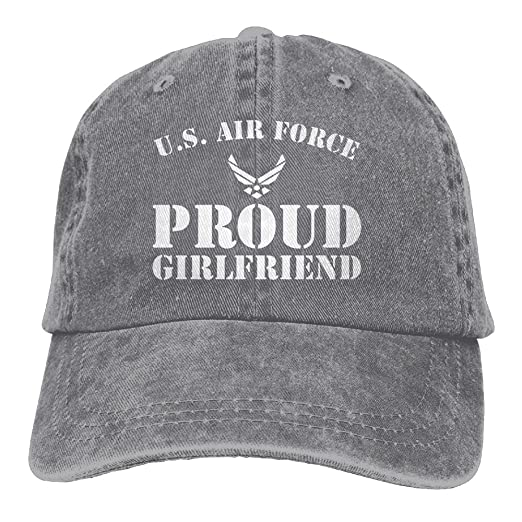 334eeab4cbb73 SHENQINGWENEN Proud U.S. Air Force Girlfriend Adult Dad Hat Baseball Hat  Vintage Washed Distressed Cap