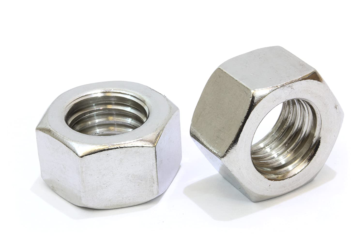 1 4 20 Stainless Hex Nut 100 Pack by Bolt Dropper 304 18 8 Stainless Steel Nuts.