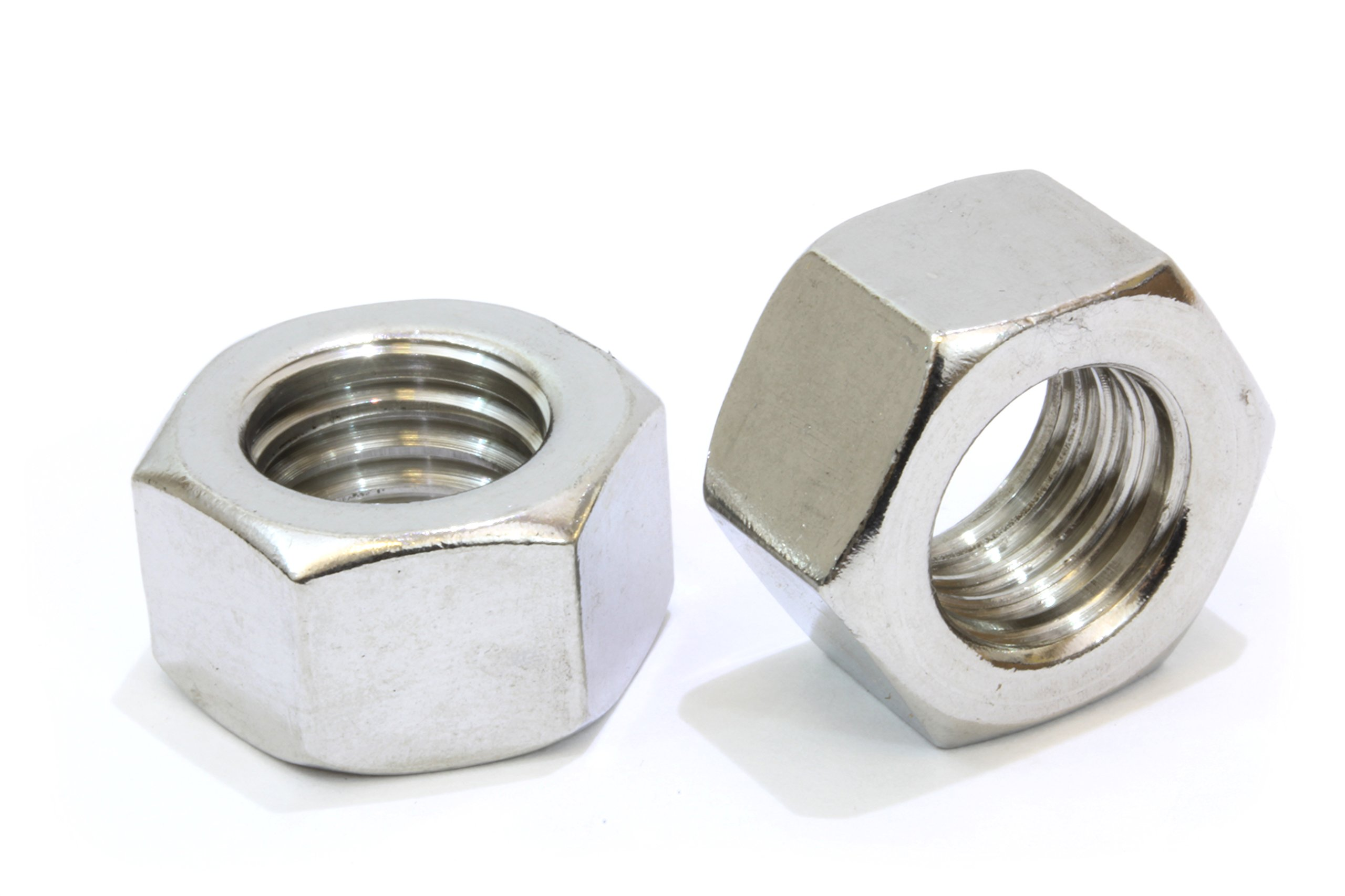 5/16''-18 Stainless Hex Nut (100 Pack), By Bolt Dropper, 304 18-8 Stainless Steel Nuts