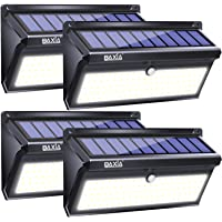 BAXIA TECHNOLOGY Waterproof Security Wall Lighting Outside for Front Door, Backyard, Steps, Garage, Garden (2000LM, 4PACK), Solar Lights Outdoor 1.3W, 3.7V