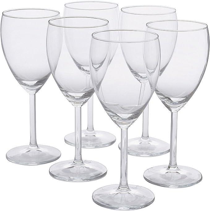 Amazon Com Ikea 123 Svalka White Wine Clear Glass H 7 X6 1 Wine Glasses