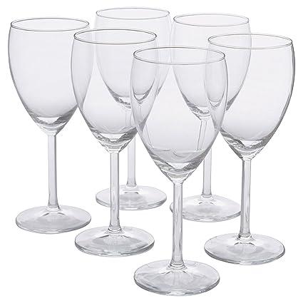 023ea171102 Amazon.com | IKEA - SVALKA White wine glass, clear glass, H:7
