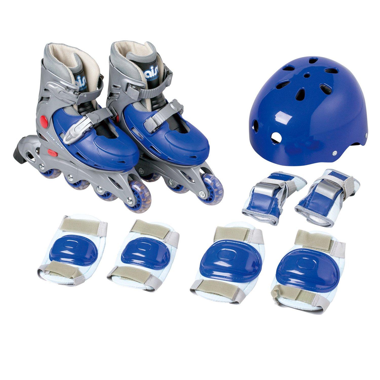 スケート KW-466BM シェルブーツ タイプ 23~25cm ブルー 調節可 インライン Mサイズ ローラー (カイザー) Kaiser セット