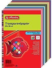 Herlitz 246413 Transparentpapier, 20 x 30 cm, 10 Blatt, 5-er Pack