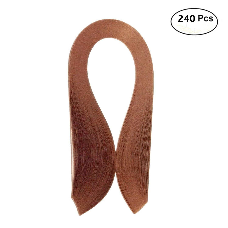 Quilling Paper Strips 5 mm Brown Paper Strips, 540 mm Length 240Pcs Quilling Strip 5mm Brown ODETOJOY