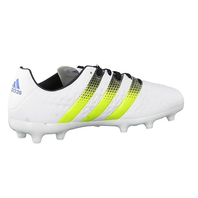 Botines de fútbol Ace 16.3 Fg/Ag J, unisex, para bebés, de la marca adidas, FTWWHT/SESOSL/SHOBLU, 3,5: Amazon.es: Deportes y aire libre