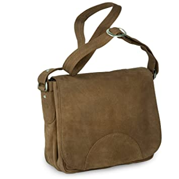 10b1e4ef82a8a Damen Handtasche Größe M Umhängetasche im Retro-Look aus Büffel-Leder