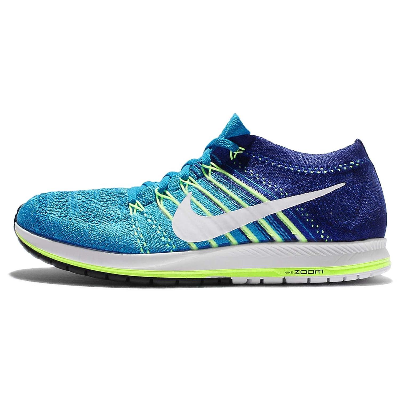 NIKE Unisex Flyknit Racer Running Shoe B01LYTNN0A 8.5 D(M) US|Blue Glow/White