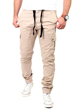 Reslad Chino Hose Herren Jogging Jeans Chino Freizeithose Jogginghose RS 2082
