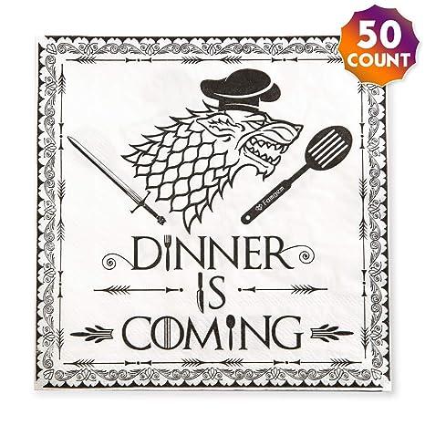 Amazon.com: Luncheon servilletas de cóctel cena viene ...