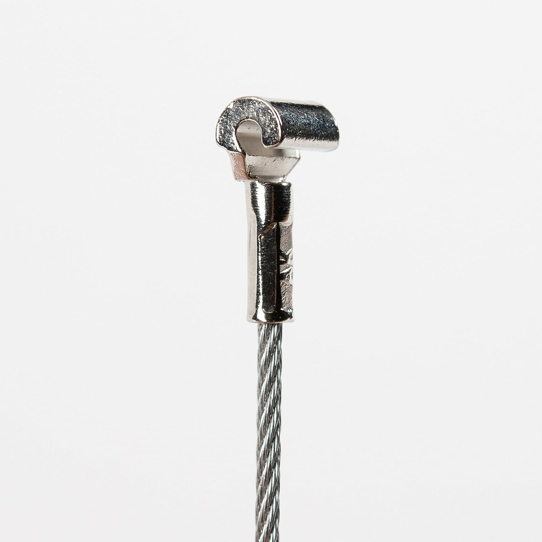 Stahlseil 1,5m mit Cobra Haken, ! AN JEDER STELLE EINFACH EINHÄ NGBAR !!!, Bilderseil 150cm mit Cobra-Haken PASST Ü BERALL IN ALLE Bilderleisten / Galerieschienen Stas