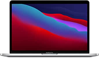 New Apple MacBook Pro with Apple M1 Chip (13-inch, 8GB RAM, 256GB SSD Storage) - Silver (Latest Model)