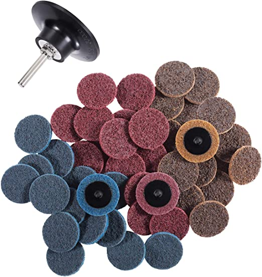 Plastic Button Quick Change Discs 80 Grit 25 Pack Random Products Inc 3 Green Zirconia with Grinding Aid Type R