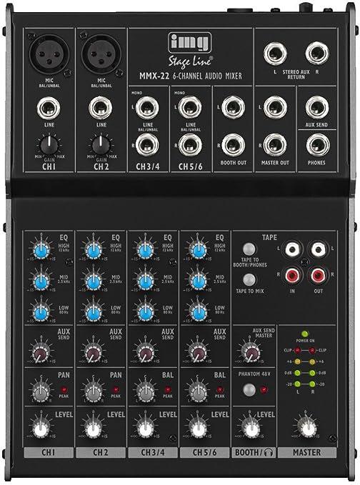 IMG 20.277 - Mesa de mezcla (4 canales): Amazon.es: Instrumentos ...
