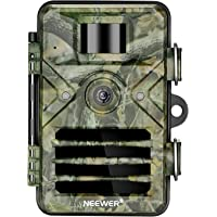 Neewer Trail Camera 16MP 1080P HD Outdoor Game Hunting Cam 940nm Security Night Vision Motion Activated Cameras with 2.4 inch LCD and IP66 Waterproof Battery Powered for Wildlife Monitoring