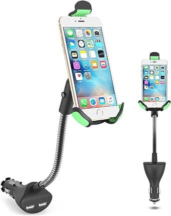 Soporte de coche, yitech HC84 K coche Smartphone soporte con doble ...