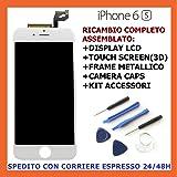 Schermo Display Retina LCD con Touch Screen per iPhone 6s - Bianco - Kit