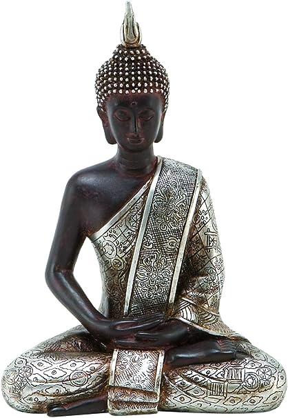 Amazon Com Deco 79 Thai Buddha Meditating Peace Harmony Statue 8 H Home Kitchen