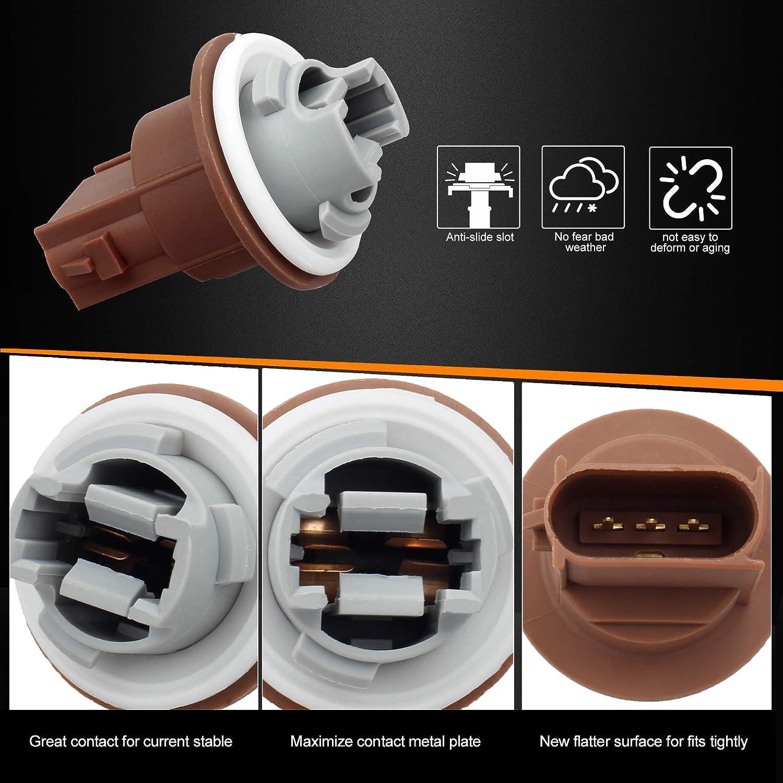 Pack of 2 HERCOO Turn Signal Tail lights Socket Headlight Parking ...