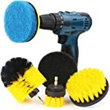 Power Scrubber Kit, Senignol 6 Pieces Drill Brush Attachment Set for Cleaning, Great for Cleaning Pool Tile, Flooring, Bathtub, Brick, Toilet, Ceramic, Marble and Grout