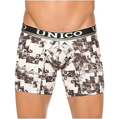 Mundo Unico Men Trunk Cotton Mid Rise Boxer Brief Print Colombian Underwear Ropa Interior Hombre MulticoloredS