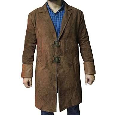 Firefly Malcolm Reynolds Suede Leather Trench Coat Costume (XXS)  sc 1 st  Amazon.com & Amazon.com: SALTONI Firefly Malcolm Reynolds Suede Leather Trench ...