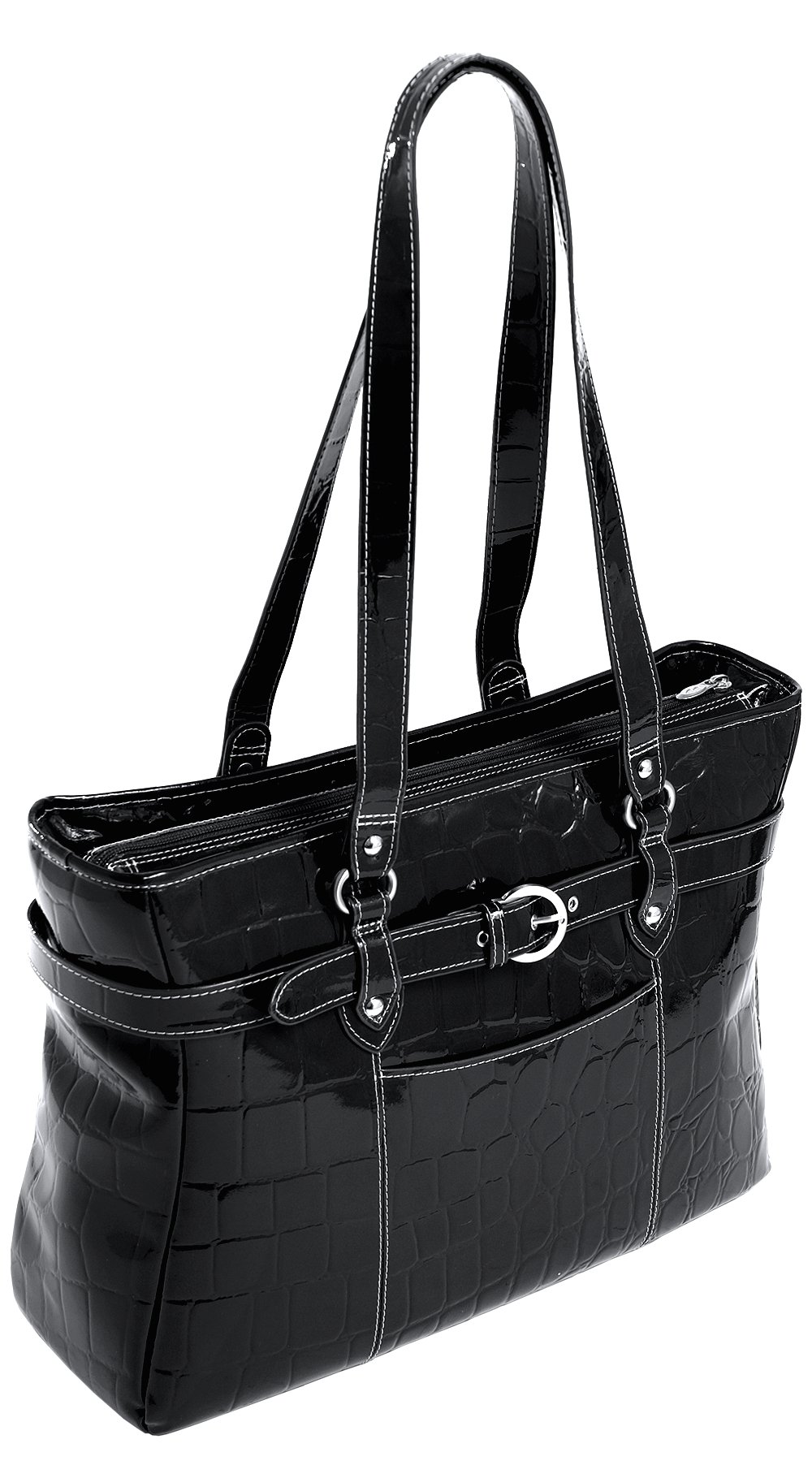 Siamod SERRA 35265 Black Leather Ladies' Laptop Tote