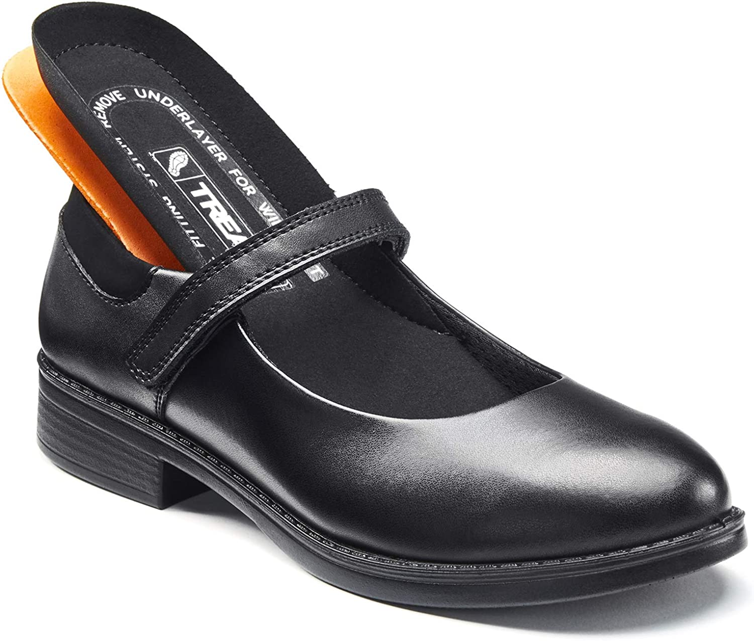 12 Month Indestructible Guarantee TREADS Mary Jane Girl/'s Black Leather School Shoes with Adjustable Width /'Dual Fit/' Technology Brisbane