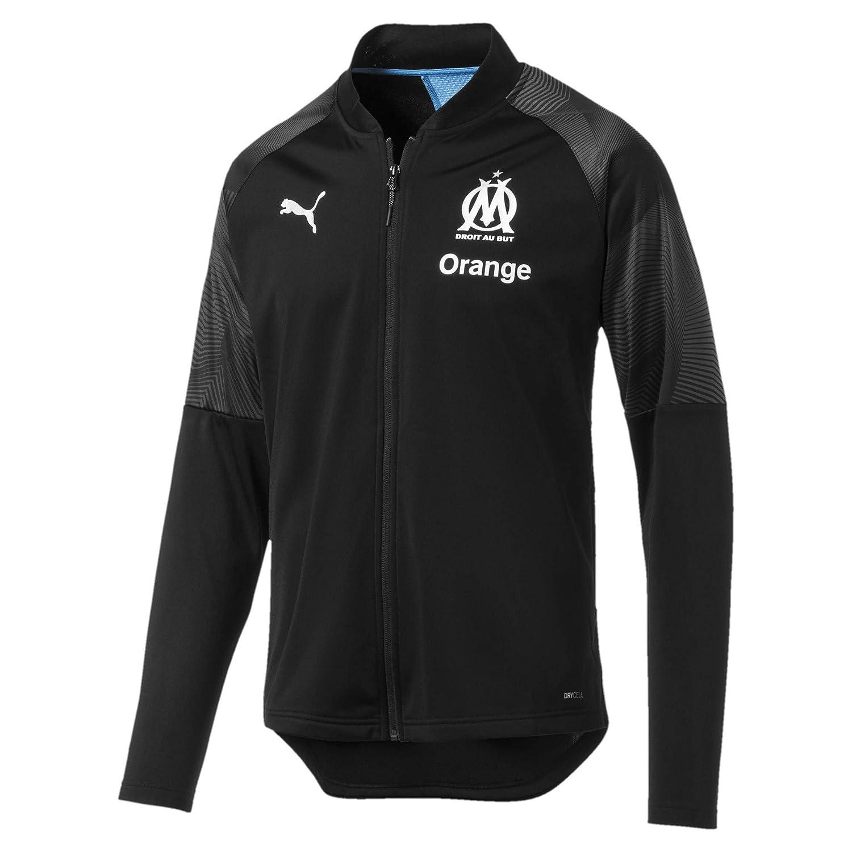 Puma Herren Olympique De Marseille Poly Jacket Sponsor Logo with Zi Trainingsjacke