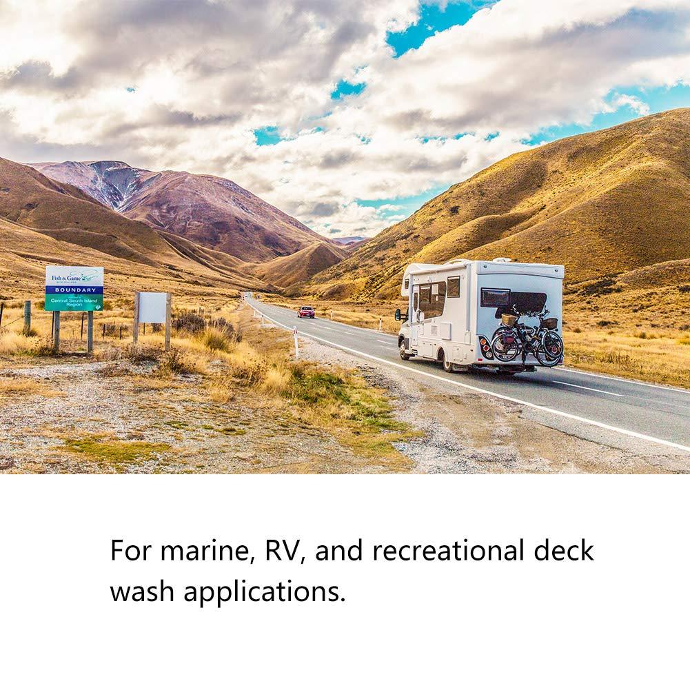 5,5 GPM 70 PSI pour voiture haute pression kit de pompe de lavage pour caravane//camping-car//bateau//marine Pompe de lavage de voiture 12 V