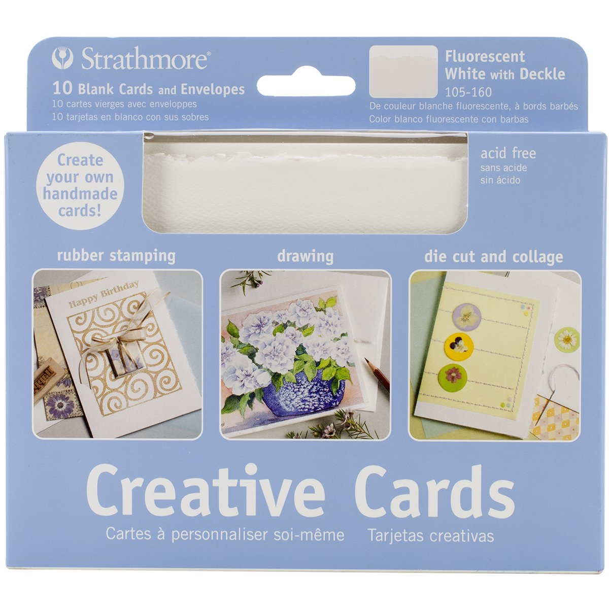 Amazon strathmore str 105 16 fluorescent white deckle card 20 amazon strathmore str 105 16 fluorescent white deckle card 20 pack arts crafts sewing m4hsunfo
