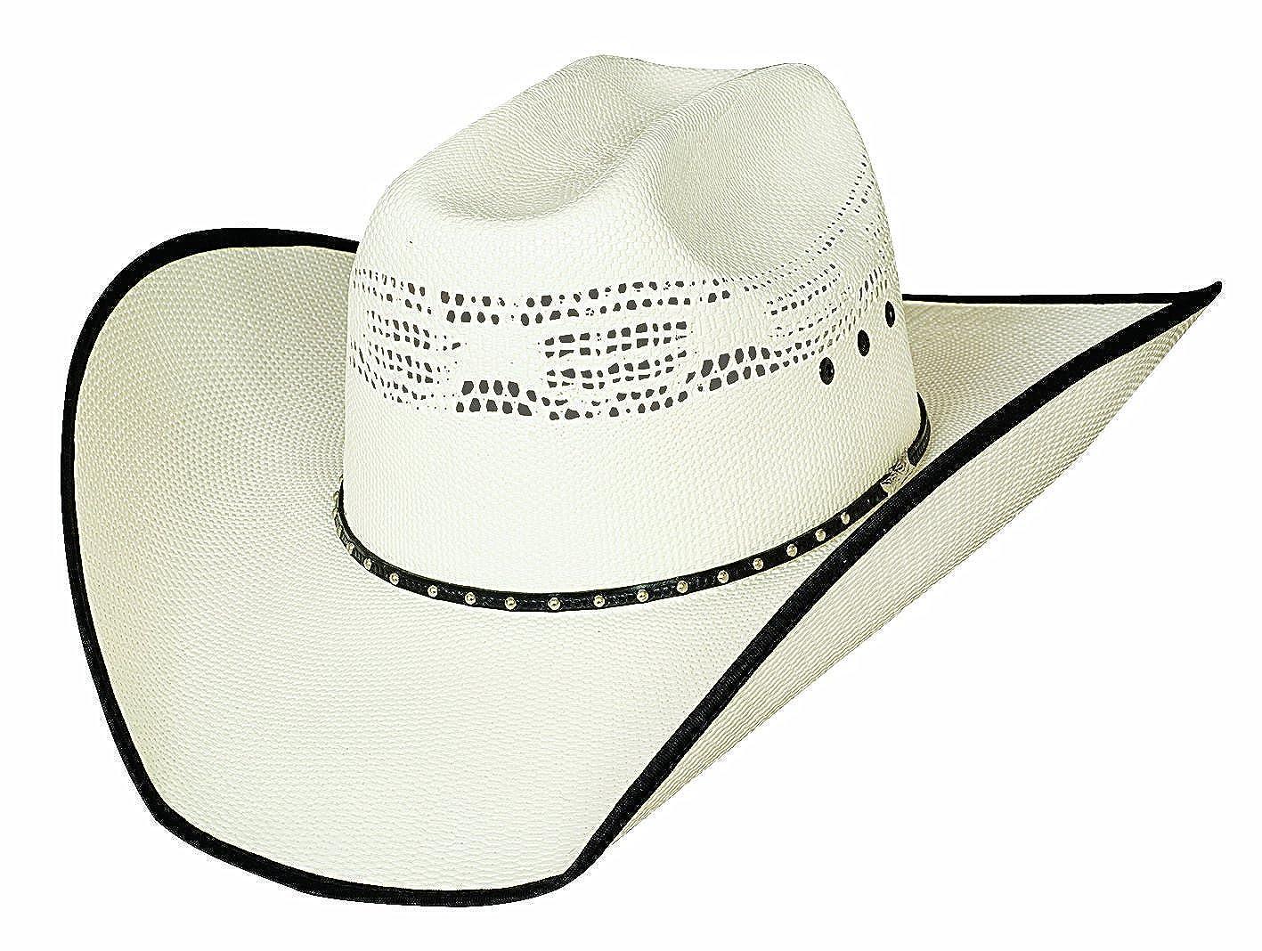 6 7//8 Justin Moore Montecarlo Bullhide Hats Beer Time Western 20X Bangora Straw Cowboy Hat