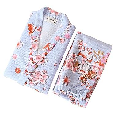 Trajes de Estilo japonés de Las Mujeres de algodón Kimono ...