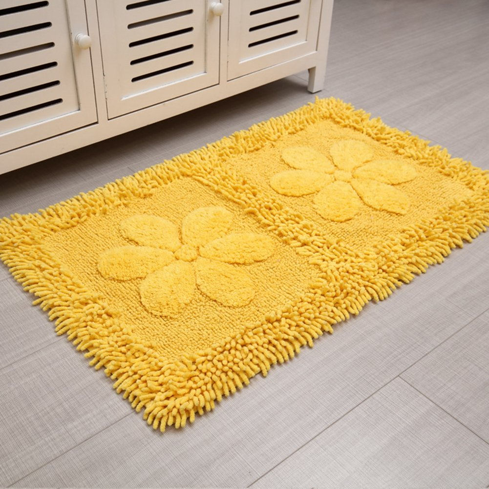 lovely Bath Rugs, Washable and Absorbent Soft Shower Mat, Non-Slip ...